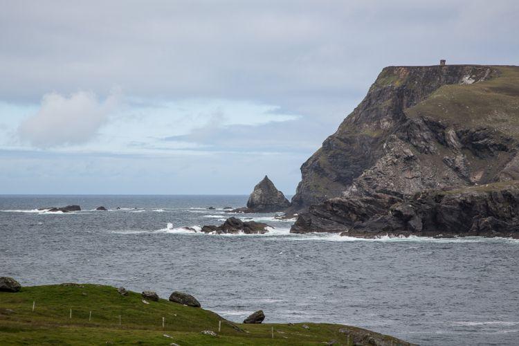 Blick von Glencolumbkille aufs Meer