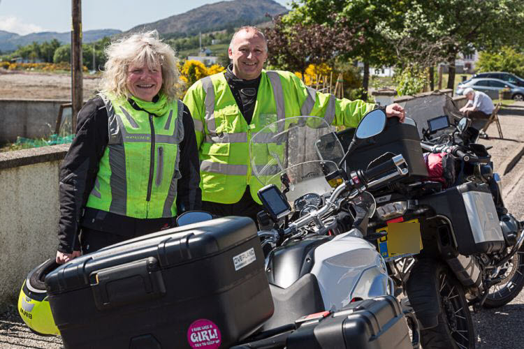Kate und Doug - zwei BMW-Reiter aus England