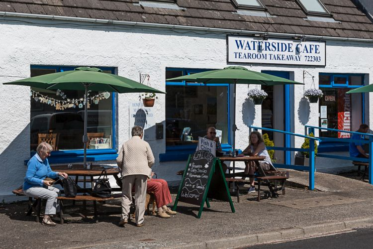 Das Waterside-Cafe in Lochcarron am Loch Carron